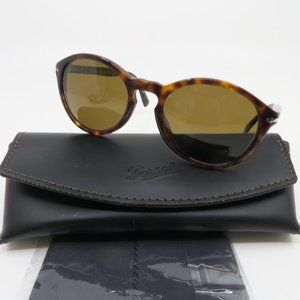 Persol 3237-S 24/57 52mm Tortoise Brown Polarized